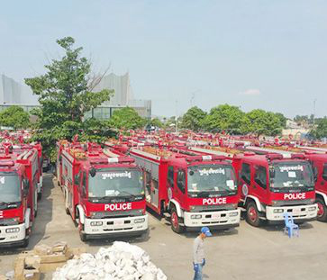In 2016-2018 we have exported 300 units fire fighting trucks to Cambodia