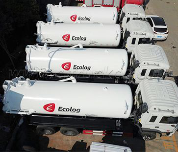 In 2017 We exported 20 unit vacuum sewage trucks and garbage compactor trucks to Ecolog company