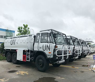 In 2017 we supplied 45 units fuel tank truck and sewage suction trucks to UN