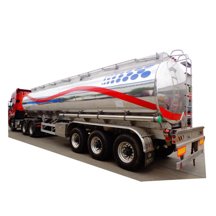 CLW 36000 liters aluminum fuel tank with 5 compartments semi trailer